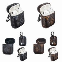 AirPods1&2 Luxury Fashion PU Leather Designer Case