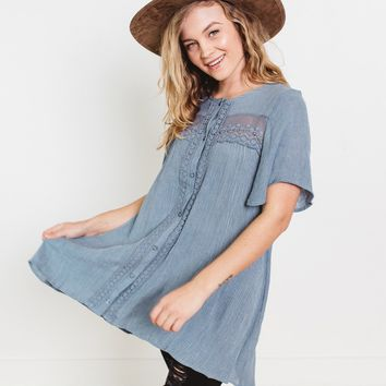Ivy Button Down Tunic