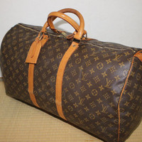 Authentic LOUIS VUITTON Monogram Keepall 55 Carry-On Travel bag - (ref 1198)