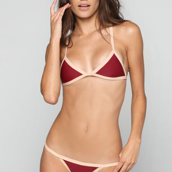 Kainalu Bikini Top in Rouge/Bare