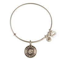 Alex and Ani Boston Red Sox™ Primary Logo Charm Bangle - Russian Silver