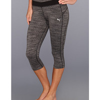 PUMA Tech Performance 3/4 Tight Black Heather - Zappos.com Free Shipping BOTH Ways