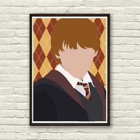 RON WEASLEY Minimal Movie Print 8x11 in, Print Art Original
