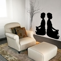 Vinyl Wall Decal Sticker Meditation Time #OS_MB800