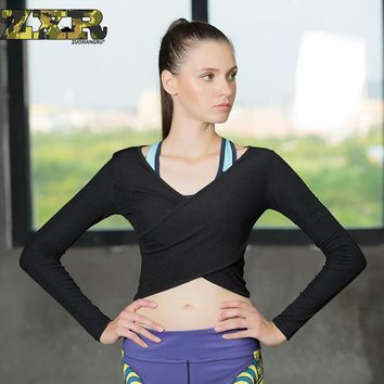 Zuoxiangru Yoga T Shirt Women Sports Gym Clothing Women Long Sleeve Running Tops Spring And Summer Thin Drying Clothes Soft Tops