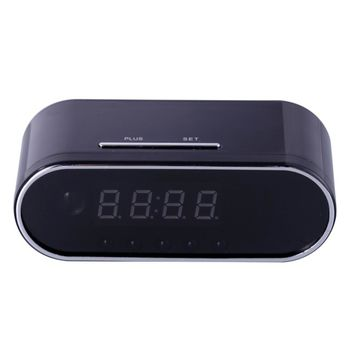 Table Clock Spy Camera with Night Vision