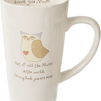 Out of all the Moms in the world I'm so glad you are mine Latte Mug
