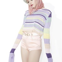 Sugarplum Visionz Cropped Sweater
