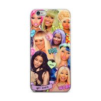 Nicki Minaj Collage iPhone 4 4s 5 5s 5C 6 6s 6 Plus 6s Plus 7 & 7 Plus Case