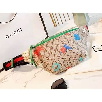 Gucci  new fashion casual trend print crossbody chest pocket