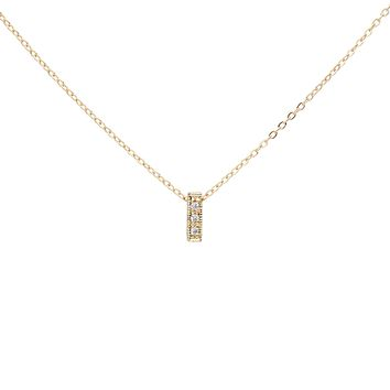 CZ Tiny Bar Necklace