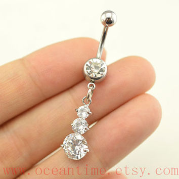 belly rings,drop diamond belly button rings,fantastic bellybutton jewelry,body piercing,friendship bellyring,bff gift