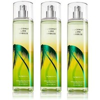 Coconut Lime Breeze Bath & Body Works Lot of 3 Fine Fragrance Mist Full Size