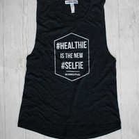 HEALTHIE IS THE NEW SELFIE™ DECKLYN MUSCLE TANK