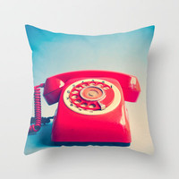 Dr. Strangelove (Vintage Red Telephone) Throw Pillow by Andrea Caroline  | Society6