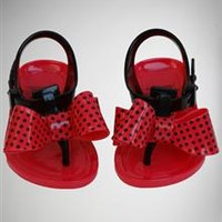 Infant Jelly Bow Flip Flops