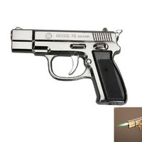 Stylish Pistol Shape Cigarette Lighter Black: Kitchen & Dining