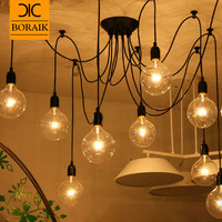 Retro Vintage Spider Pendant Lamps Loft Country Pendant Lights Industrial Creative Heavenly Maids Scatter Blossoms Home Lighting