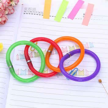1PCS Flexible Ball Pen Cute Soft Plastic Bangle Bracelet Ballpoint Pens School Office Gifts