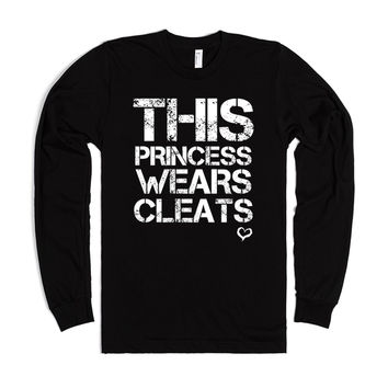 This Princess Wears Soccer Softball Cleats Black Long Sleeve Tee Ts...