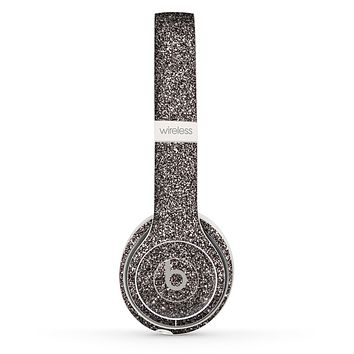 The Black Glitter Ultra Metallic Skin Set for the Beats by Dre Solo 2 Wireless Headphones