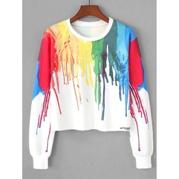 Graffiti Print Sweatshirt
