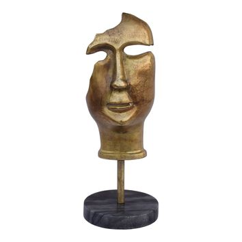 Golden Mask On Stand