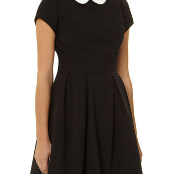 Black/white collar dress - Dorothy Perkins