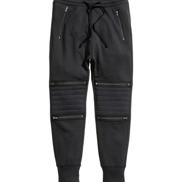 H&M - Sweatpants - Black - Men
