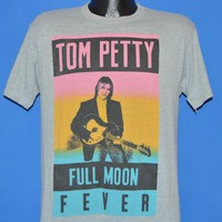 80s Tom Petty Full Moon Fever Tour Poster t-shirt Medium