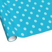 Blue On Blue Polka-dot Wrapping Paper