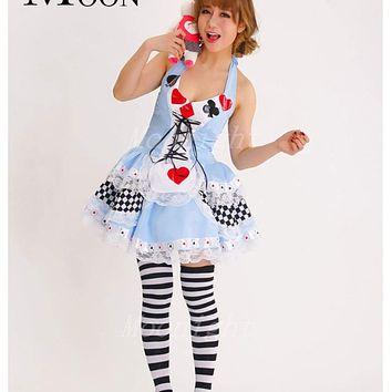 MOONIGHT Plus Size New Sexy Queen of Hearts halloween Costumes For Women Costume Alice In Wonderland Fancy Cosplay Dress Party Macchar Cosplay Catalogue