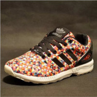 ADIDAS Men and women type air running shoes casual shoes non-skid rainbow lovers sneakers Geometric Colorful