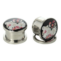 Hello Kitty Steel Floral Spool Plug 2 Pack