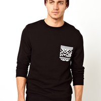 ASOS Sweatshirt With Contrast Pocket