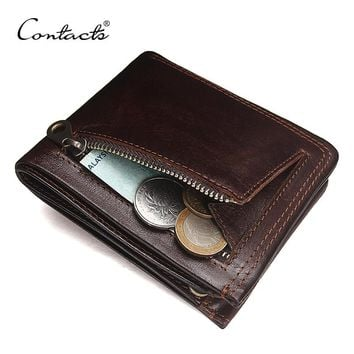 Genuine Leather Fashion Bifold Design Men Wallet
