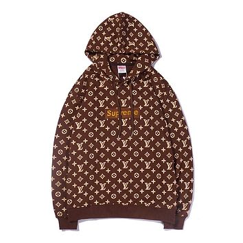 Boys & Men Supreme Fashion Casual Top Sweater Pullover Hoodie