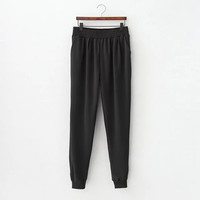 Plain Pockets Sweat Pants