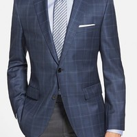 BOSS 'James' Trim Fit Plaid Wool Sport Coat ,