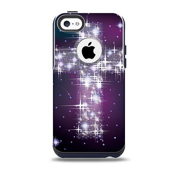 The Glowing Starry Cross Skin for the iPhone 5c OtterBox Commuter Case