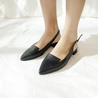 Pointed Toe Slingback Shoes | mixxmix