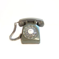 Vintage Rotary Telephone, Avocado Green Phone