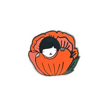 Hiding Flower Enamel Pin
