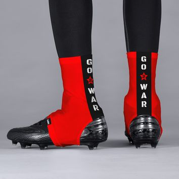 Go To War Red Spats / Cleat Covers