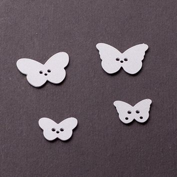 4pcs/set  butterfly Set Customized New scrapbooking DIY  Carbon Sharp Metal steel cutting die Book photo album art card Dies Cut