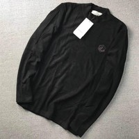 """""""Gucci"""" Men Solid Color Simple Little Bee Stretch Long Sleeve Turtleneck Base Shirt Tops"""