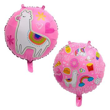 Partigos 10pcs 18inch Unicorn Llama Foil Balloons Baby Shower Birthday Wedding Party Unicorn Helium Globos Party Balloon Decor