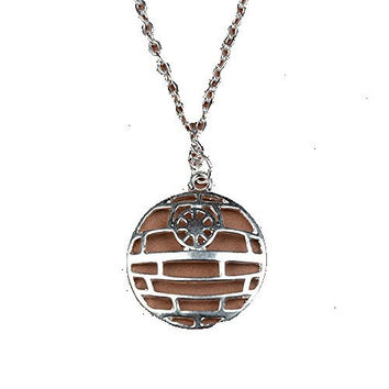 "Basket Hill Watches, Silver Tone Star Wars "" Death Star "" Mens or Womens Neck..."