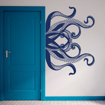 Octopus Wall Decal Tentacles Decals Bedroom Bathroom Decor Sea Ocean Animals Vinyl Sticker Decor for Home T44