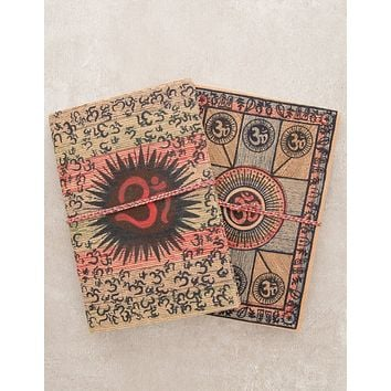 Om Medallion Journal with Tie